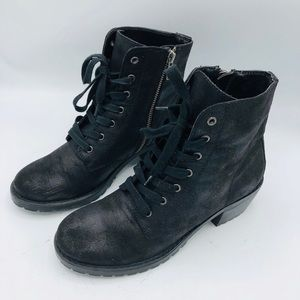 VEGAN LEATHER AMERICAN EAGLE BOOTS